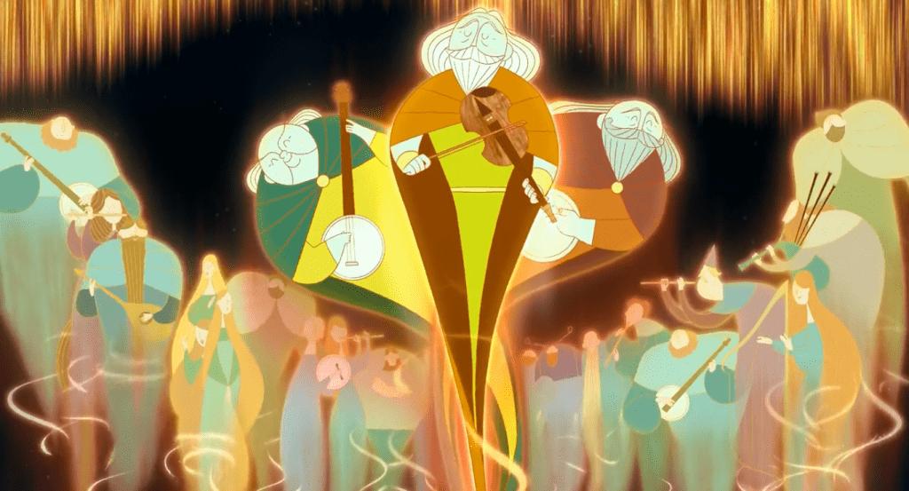Духи обретают свободу, когда Сирша, наконец, поет свою песню в пальто шелки